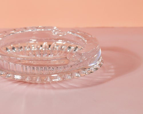 Image of Thick Cut Glass Cigar Ashtray