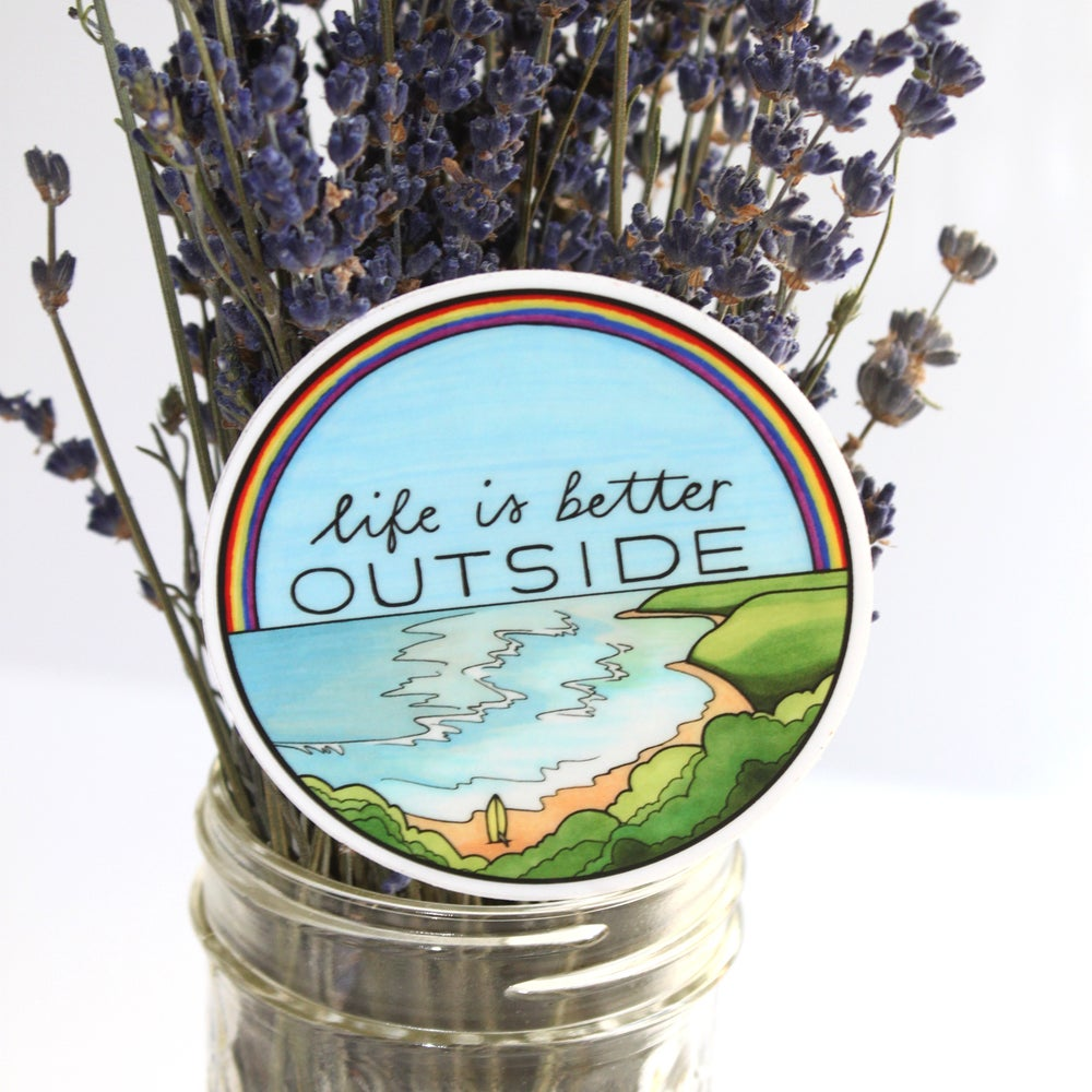 "Image of ""Life is Better Outside"" Hawaii sticker"
