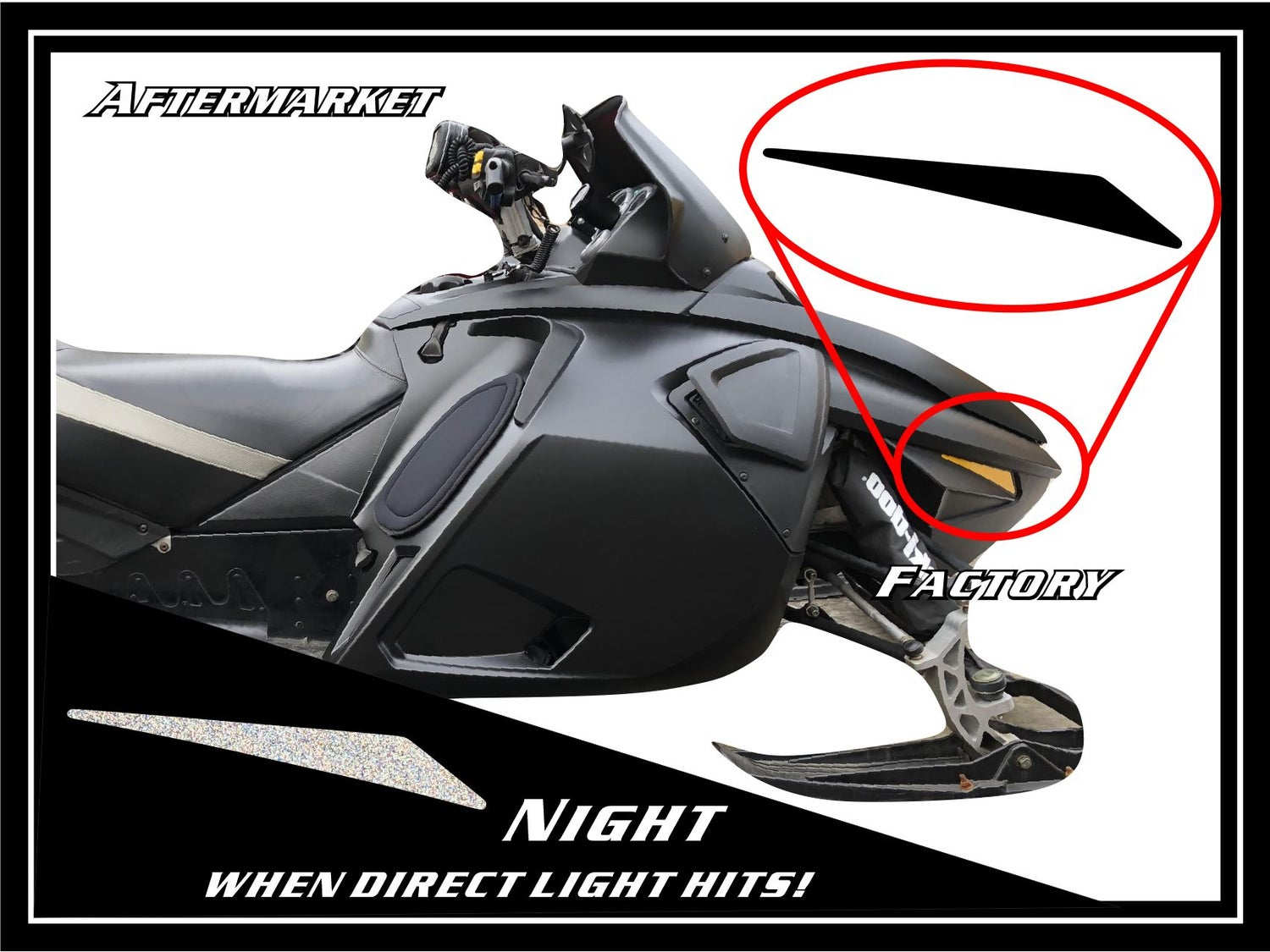 Image of FRONT SKI-DOO BLACK REFLECTORS - #520000469