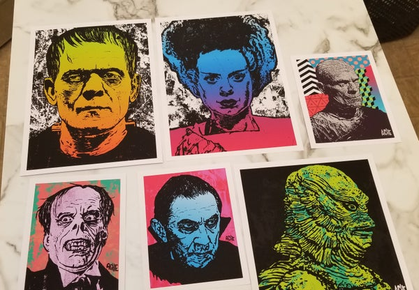 Image of Famous Monsters Print Set