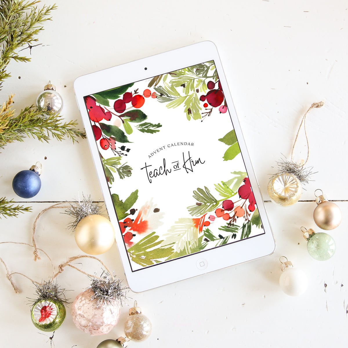 Image of Teach of Him Christmas Advent Digital PDF Book with FREE Advent Activity Guide & DIY daily ornaments