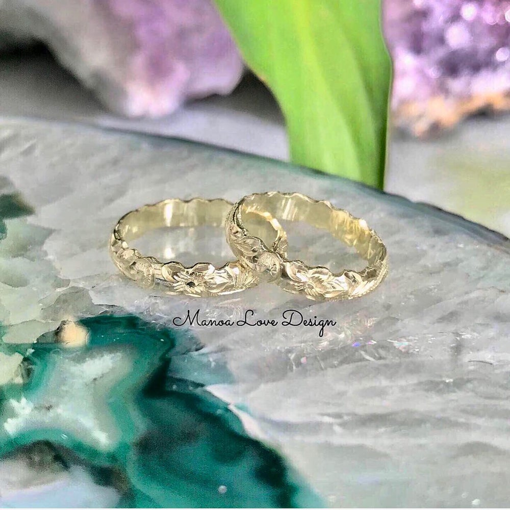 Image of Green gold hawaiian ring