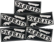Image of SK8RATS Patches Black (5 Pack)