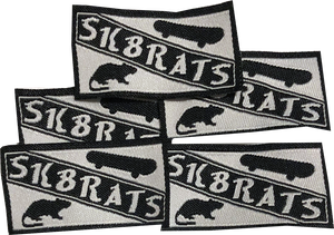 Image of SK8RATS Patches White (5 Pack)