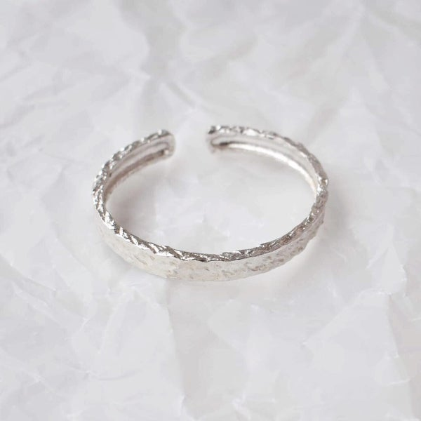 Image of Silver Wrapped cuff bracelet
