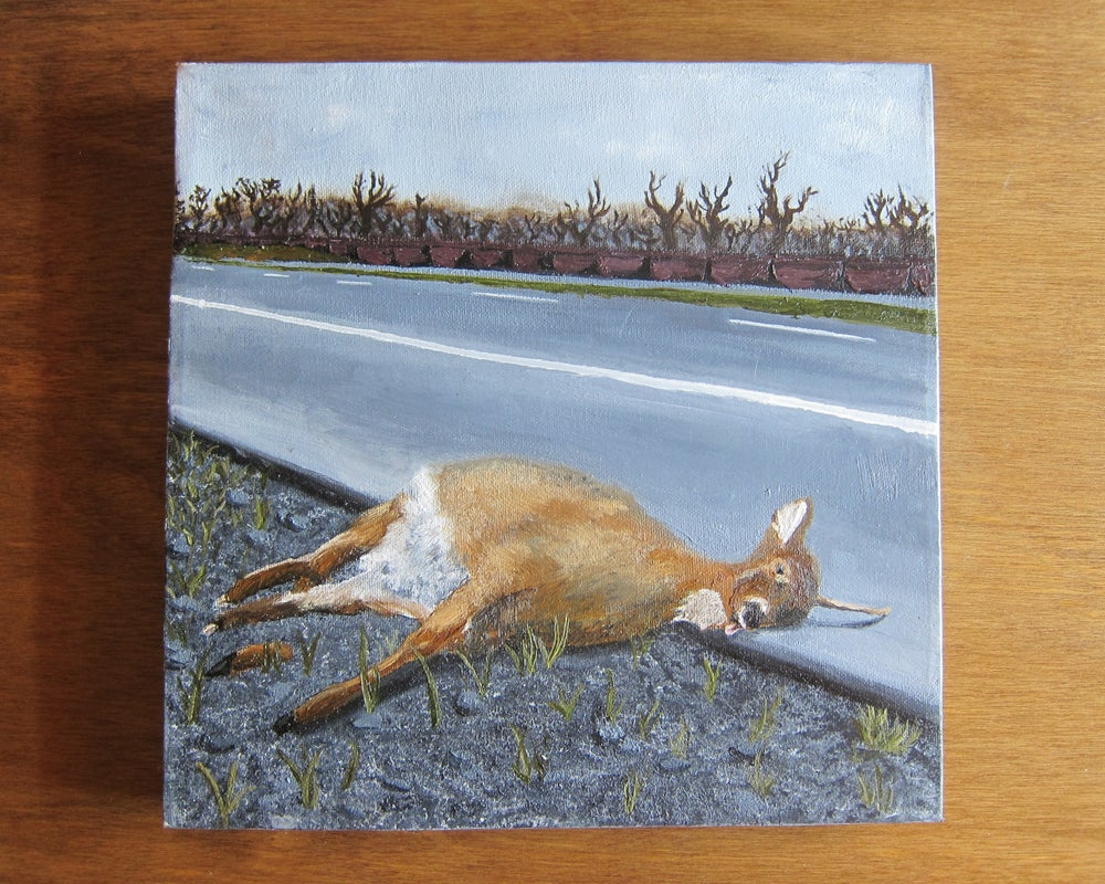 "Image of ""Still Life with Deer I"" 12""x12"" Oil on Canvas painting"