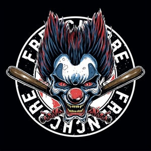 Image of Frenchcore Clown Sticker