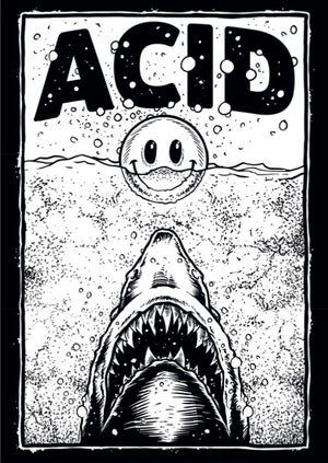 Image of Acid Shark Sticker