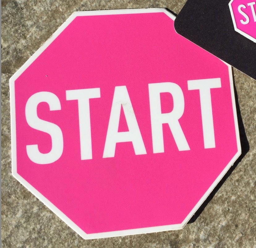 Image of Pink START Sticker (Breast Cancer Action)
