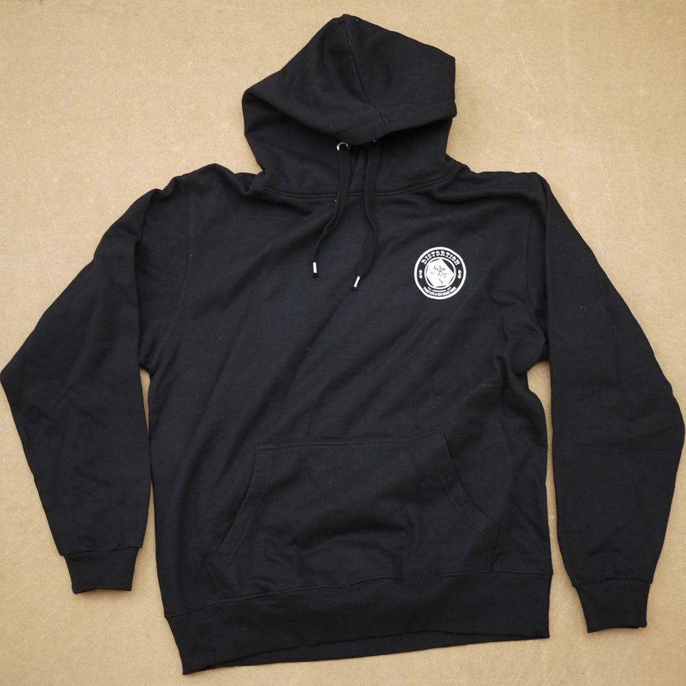 Image of Black Chest Logo Hoodie