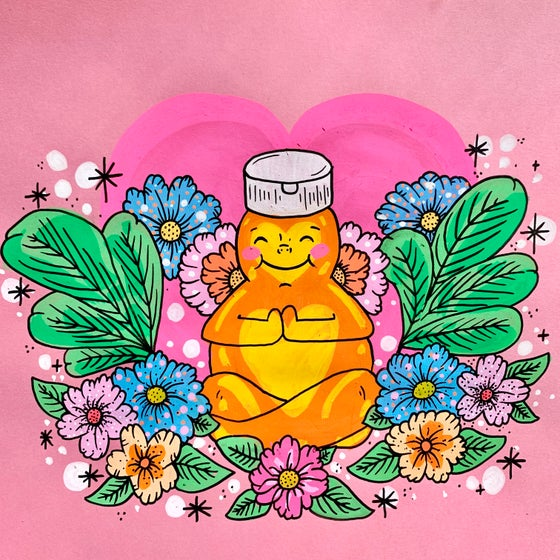 "Image of ""Honey Buddha"" original art"