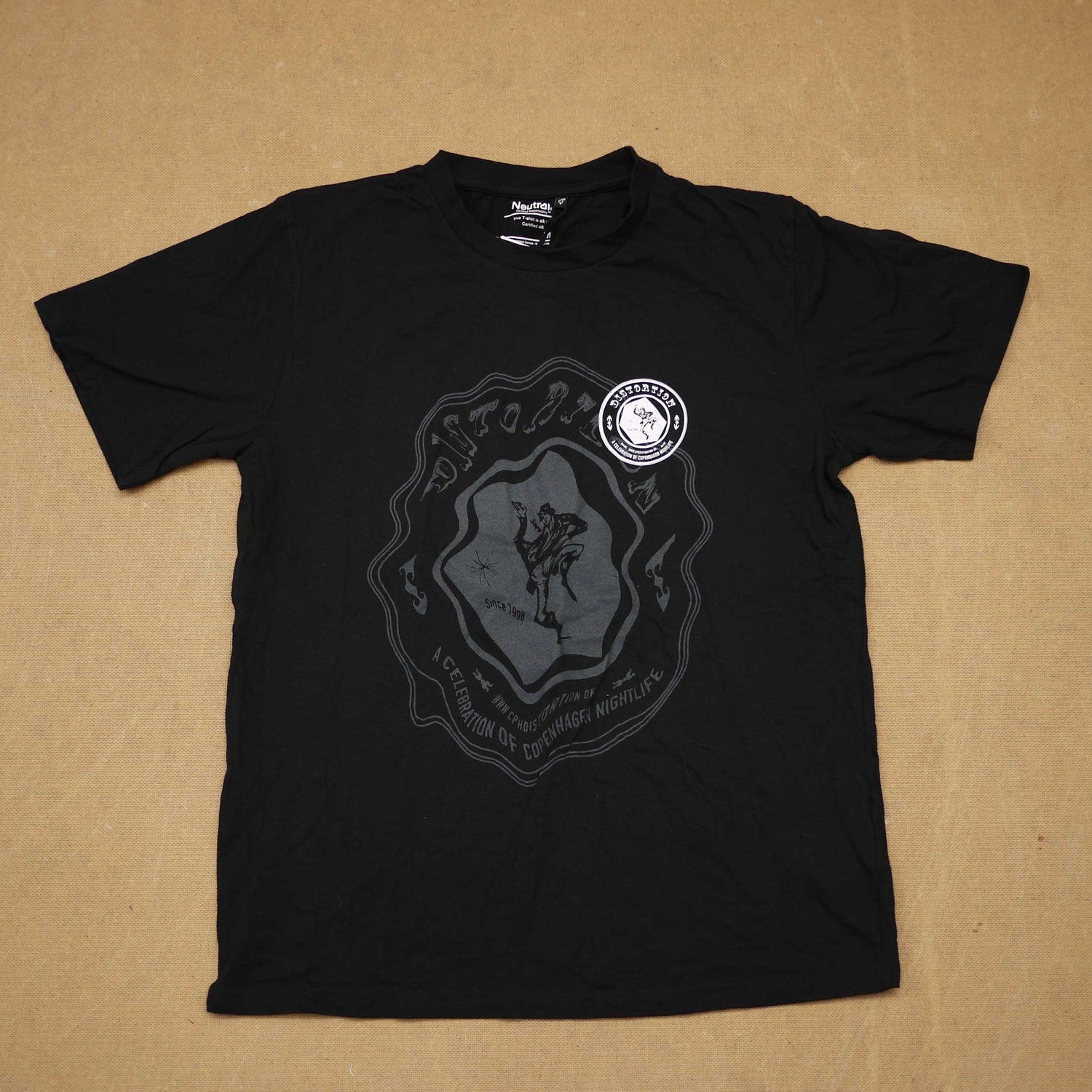 Image of Black Haunted Logo T-Shirt