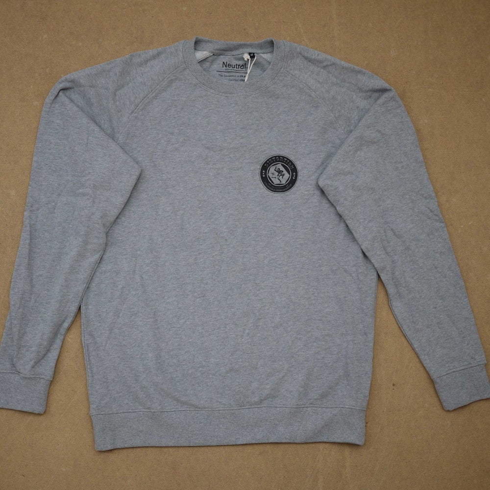 Image of Heather Grey Chest Logo Crewneck
