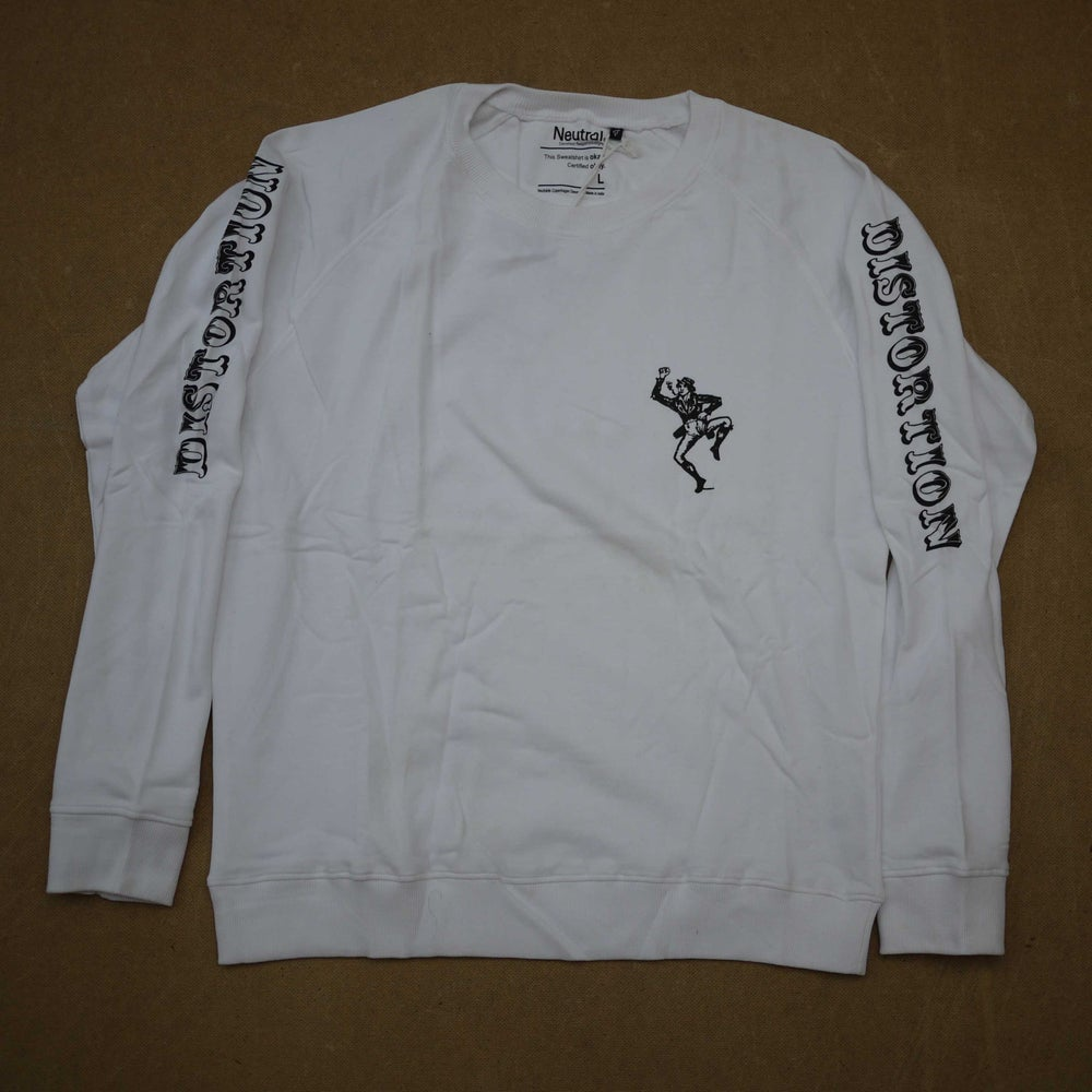 Image of White Dancing Man + Letterhead Crewneck