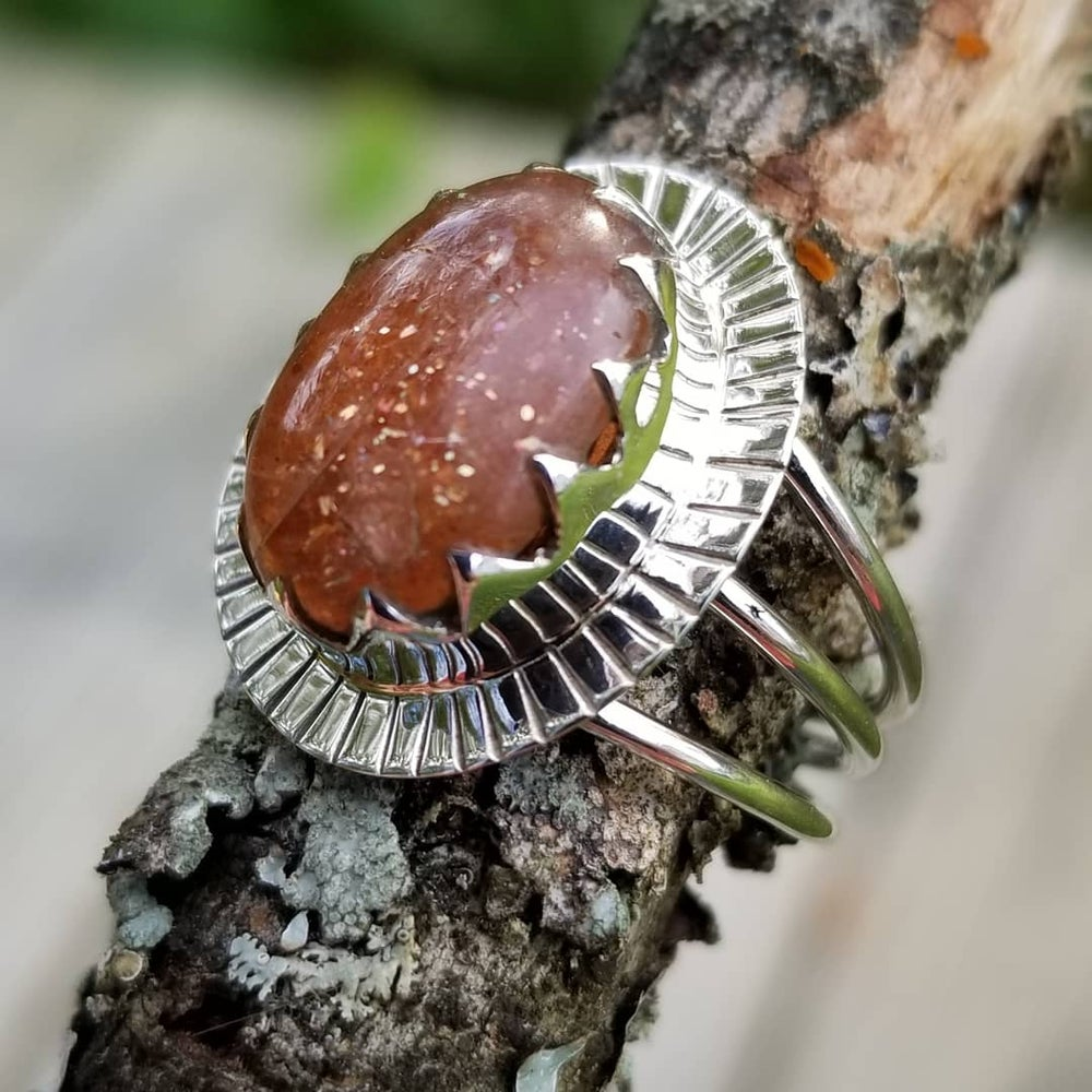 Image of Solara Ring - Sunstone in Sterling