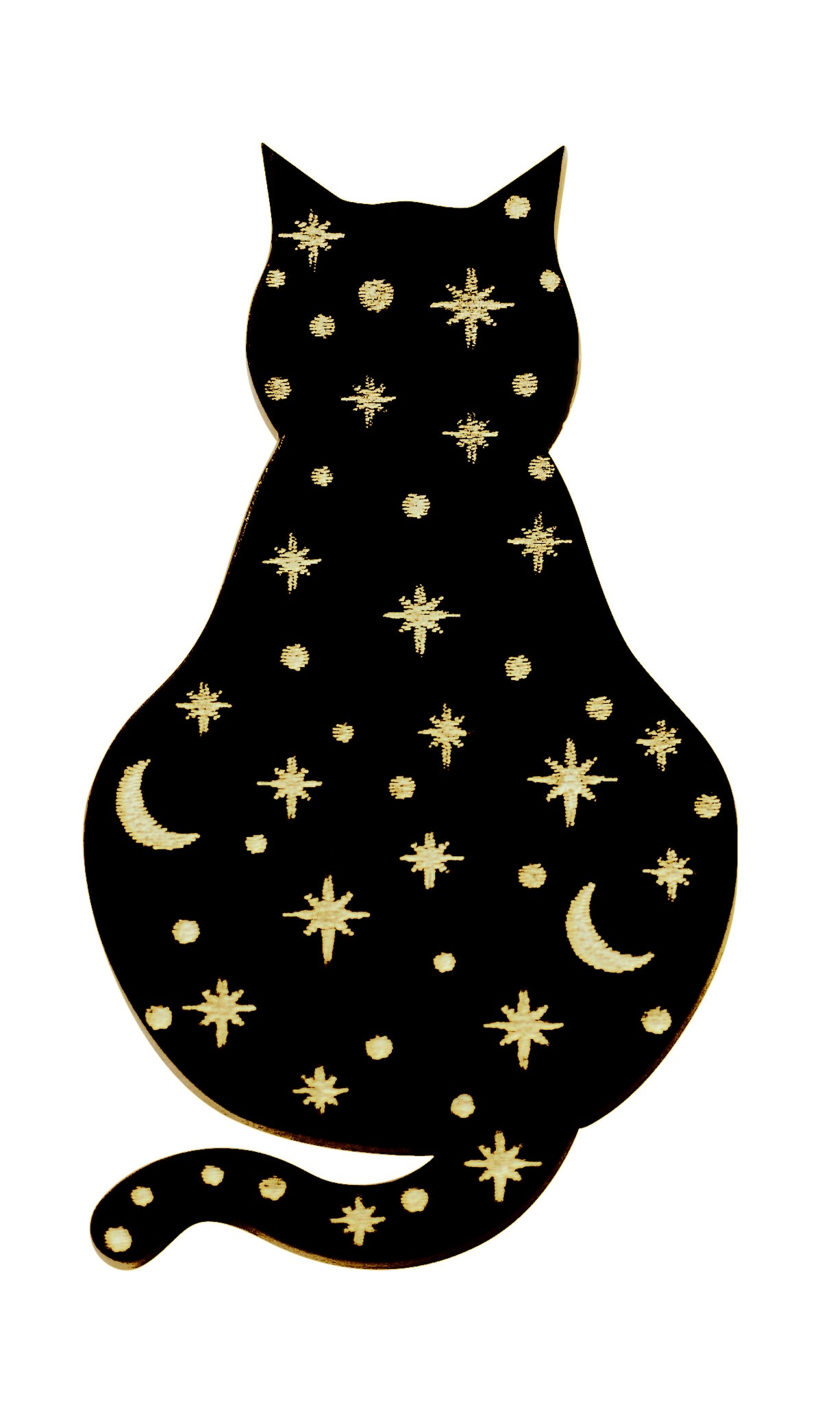 Image of Constellation Black Cat Brooch