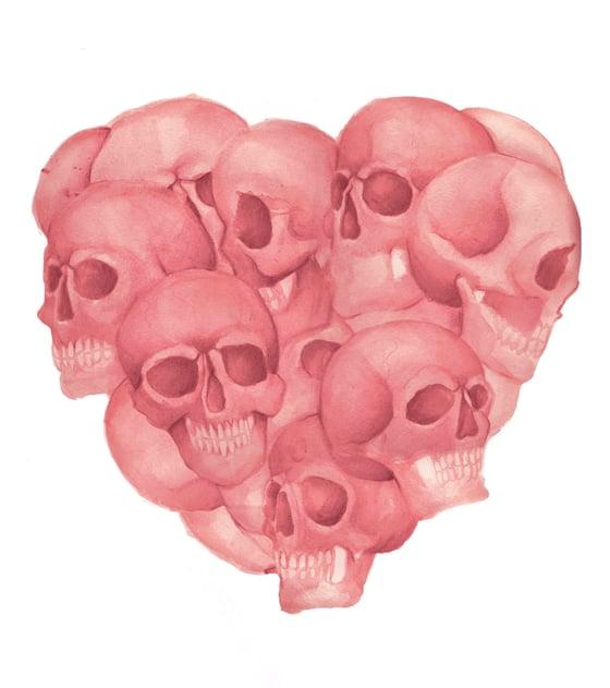 Image of Corazón de calaveras
