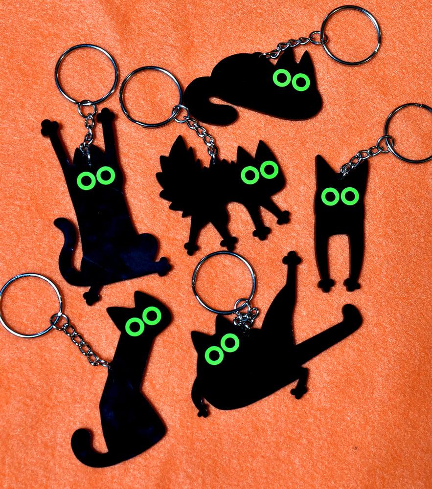 Image of Black Cat Keychains