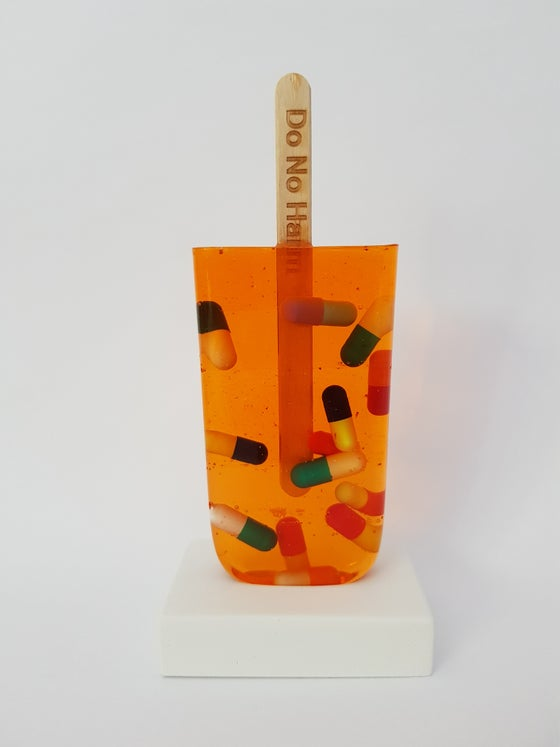 Image of MISS BUGS - DO NO HARM (ORANGE PILL`S) - SCULPTURE