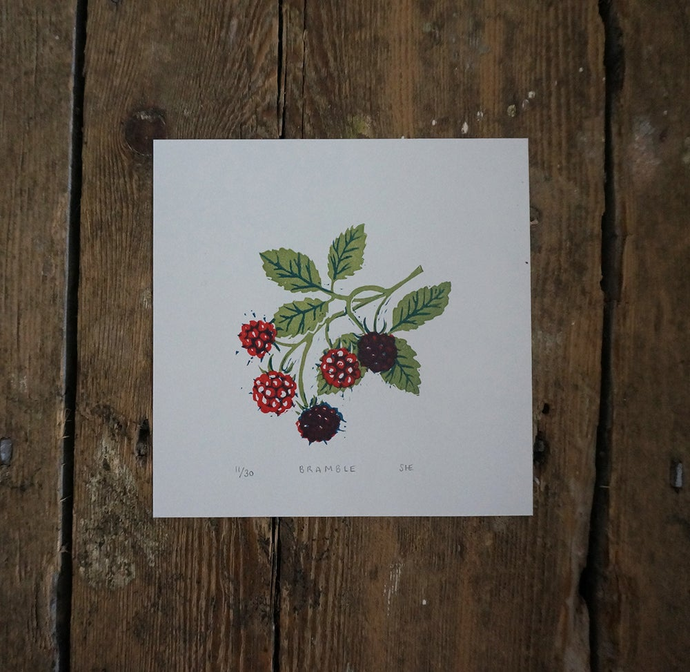 Image of Bramble - Linocut
