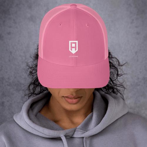 Image of Pink & White Trucker Cap