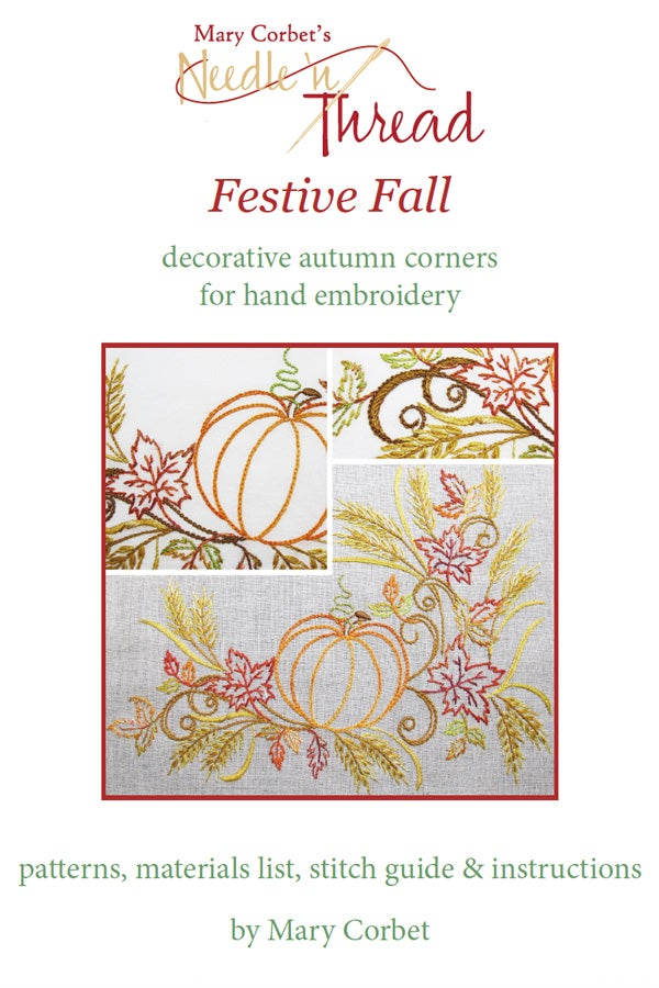 Image of Festive Fall: Autumn Corners for Hand Embroidery E-Book