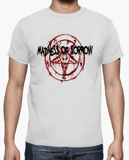 Image of Madness logo w baphomet (white vers)
