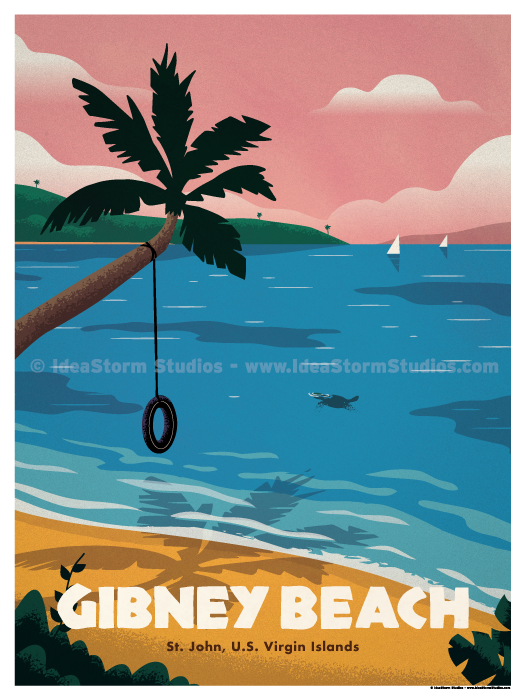 Image of Gibney Beach Poster