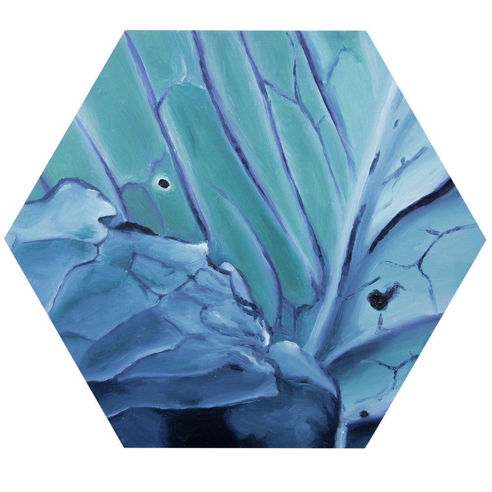 Image of cabbage hexagon painting