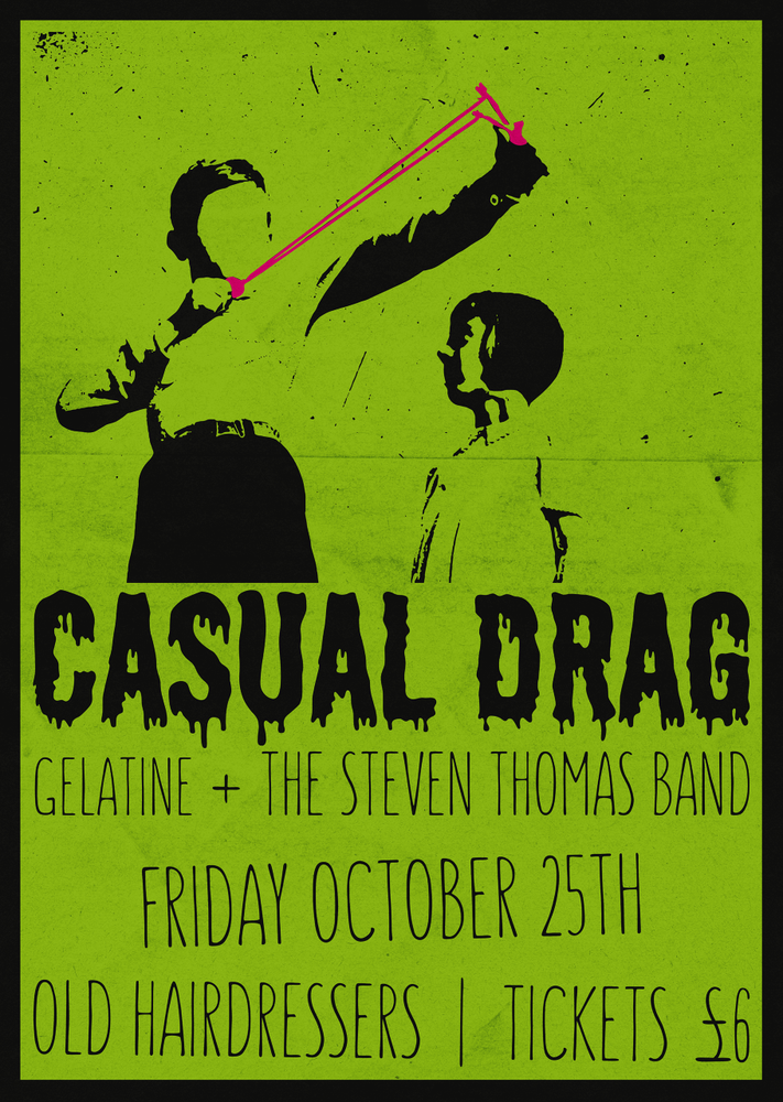 Image of Casual Drag: Live at the Old Hairdressers GLASGOW - TICKET