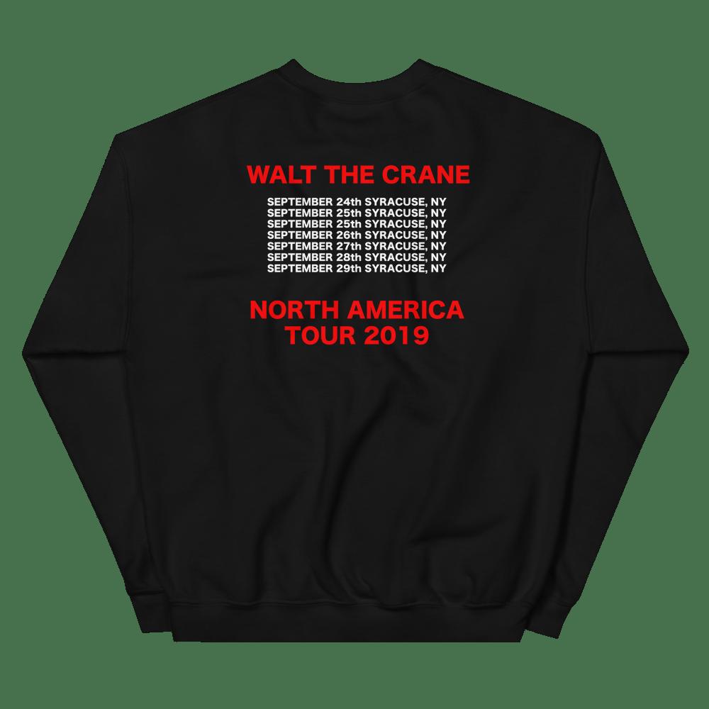 Image of WALT THE CRANE WORLD TOUR CREWNECK