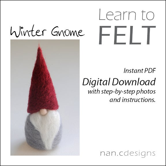 Image of PDF Winter Gnome Felting Instructions