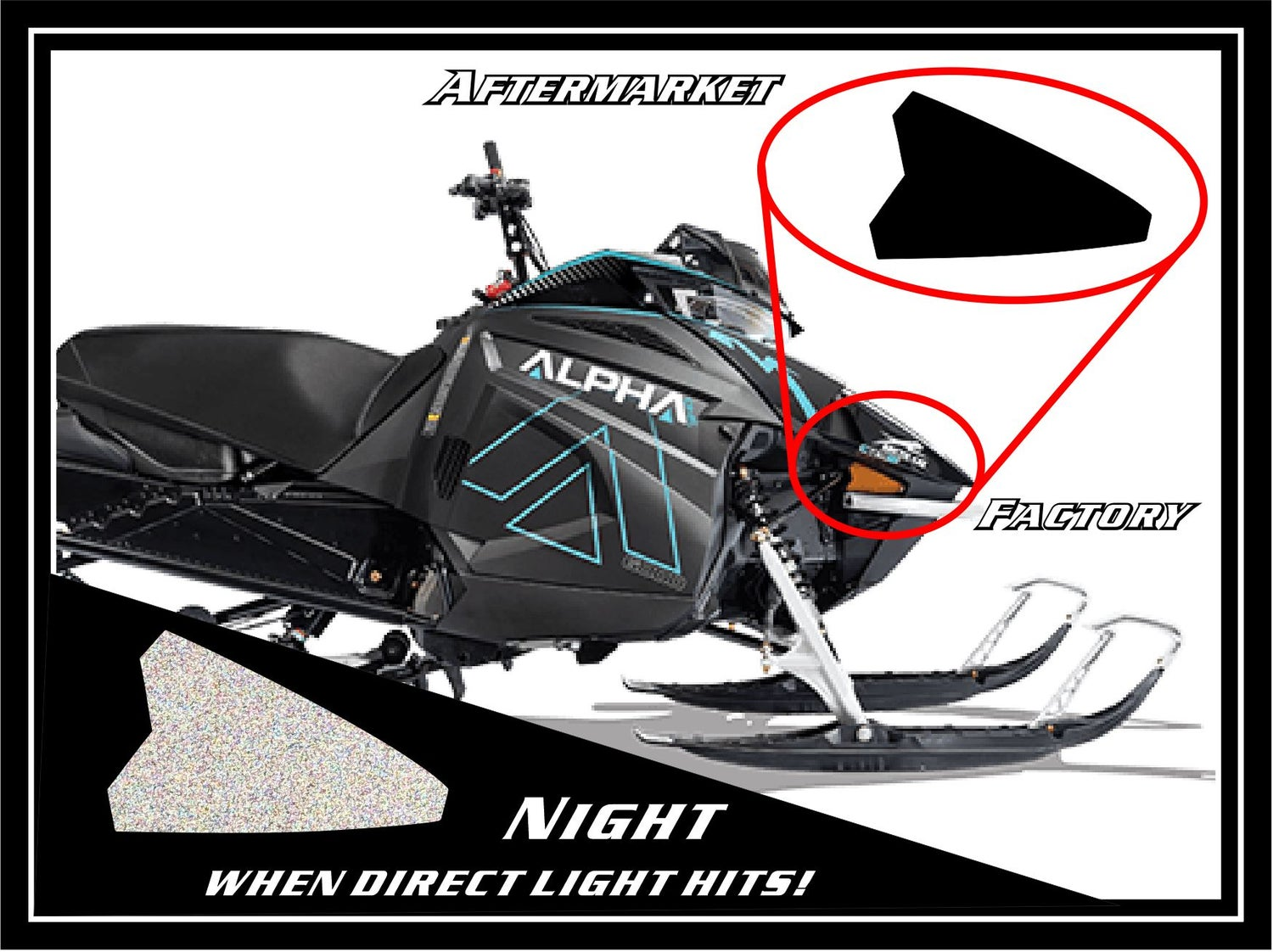 Image of ARCTIC CAT BLACK REFLECTORS