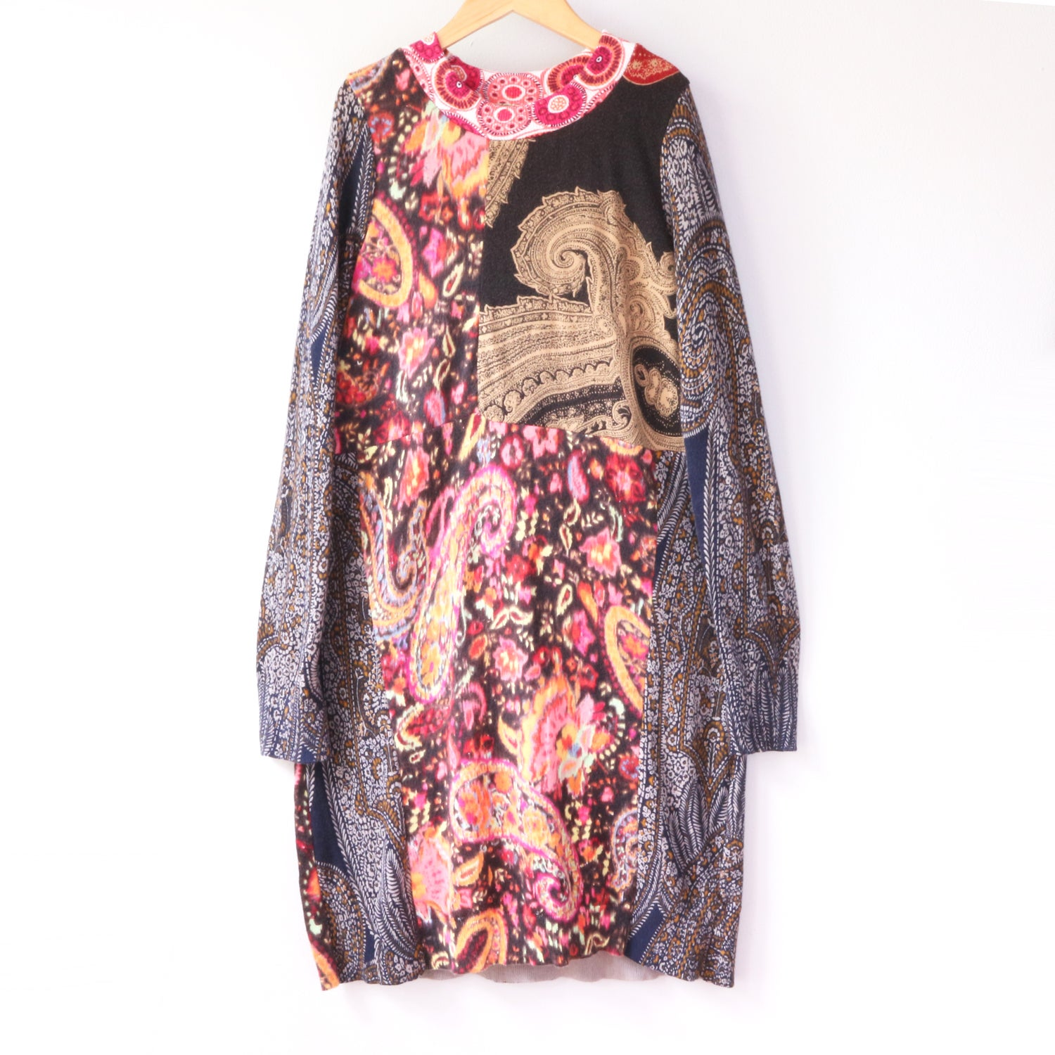 Image of paisley mix 10/12 lightweight upcycled sweater sweaters tunic longsleeve long sleeve dress