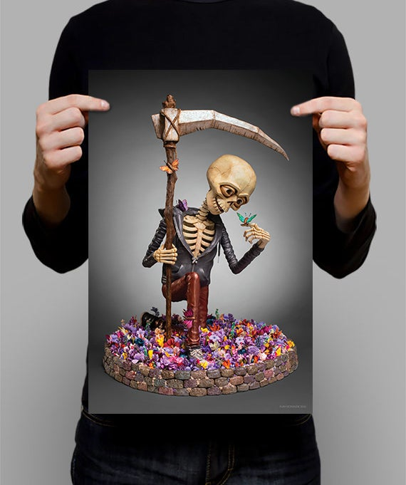 """Image of SIGNED Poster - Friends With Death 11"""" X 17"""""""