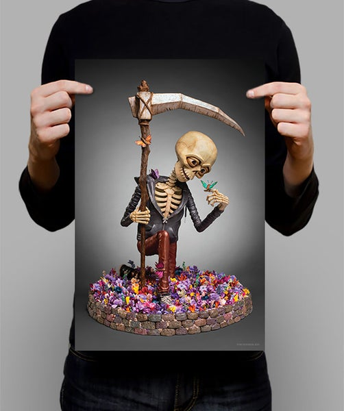 "Image of SIGNED Poster - Friends With Death 11"" X 17"""