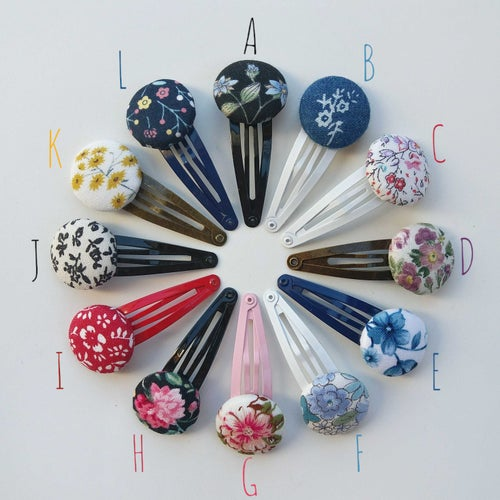 Image of Button Hair Clips - Floral Collection