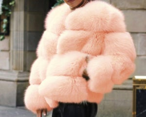 "Image of ""Fiona"" Faux Fur Puffer"