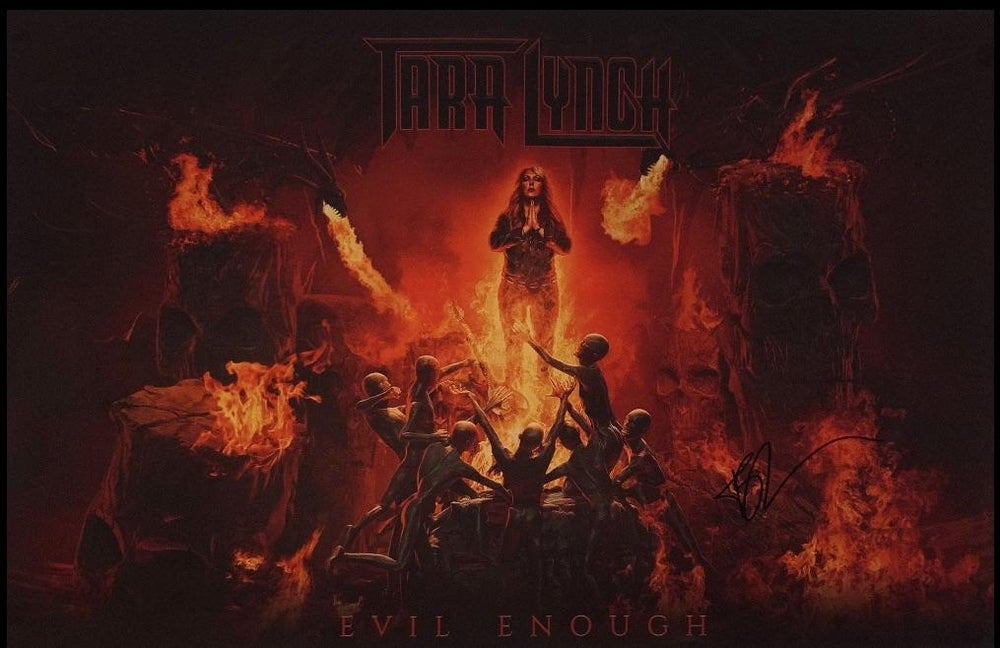 Image of EVIL ENOUGH ALBUM POSTER 11x17 AUTOGRAPHED