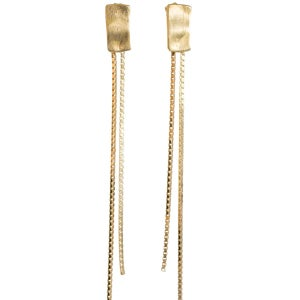 Image of Isadora stud earrings with chain