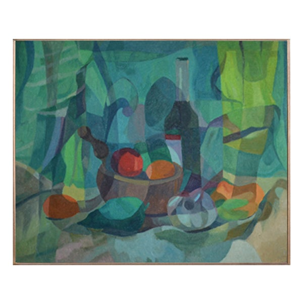 Image of  Painting, 'Mortar and Pestle,' Horas Kennedy (1917-1997)