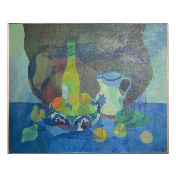 Image of  Painting, 'Jug, Bowl and Bottle.' Horas Kennedy (1917-1997)