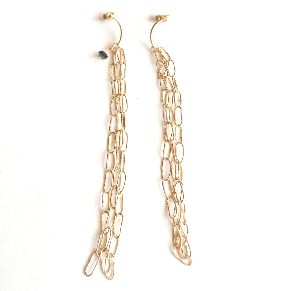 Image of Drishti stud earrings 9ct yellow gold- 12 links