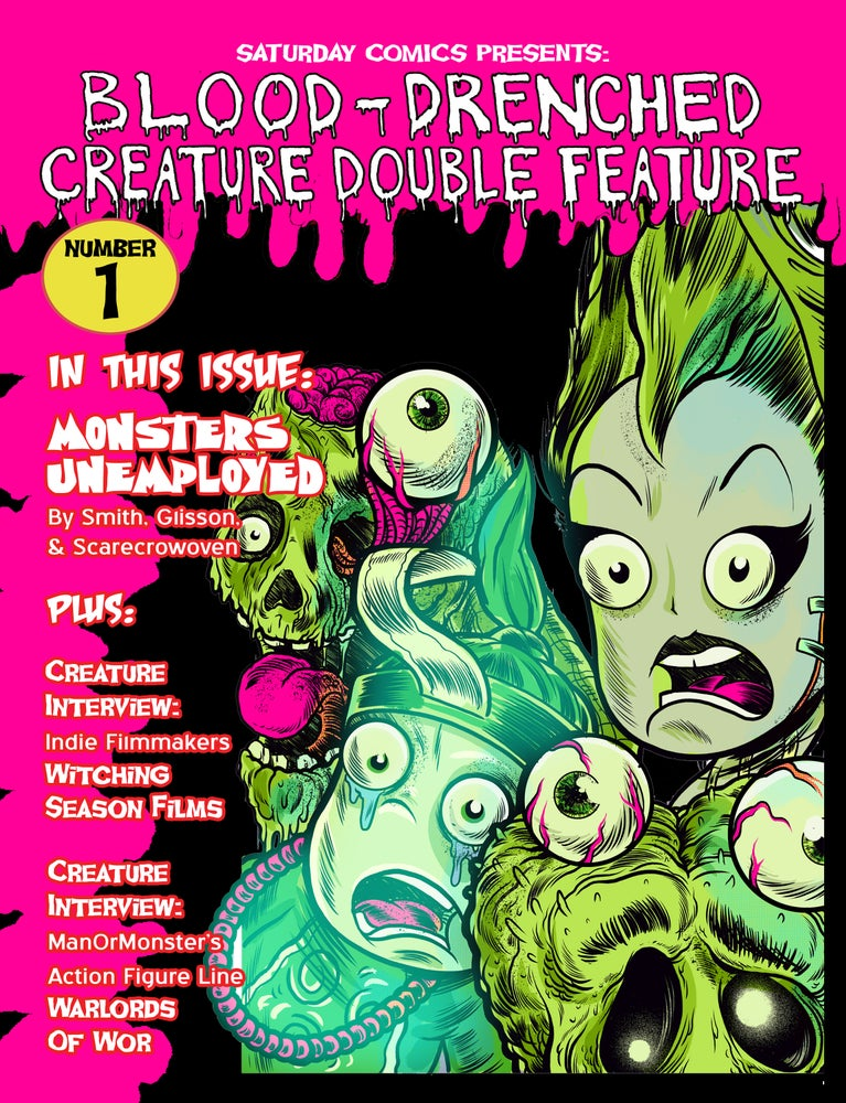 Image of Blood-Drenched Creature Double Feature #1 (with stickers)