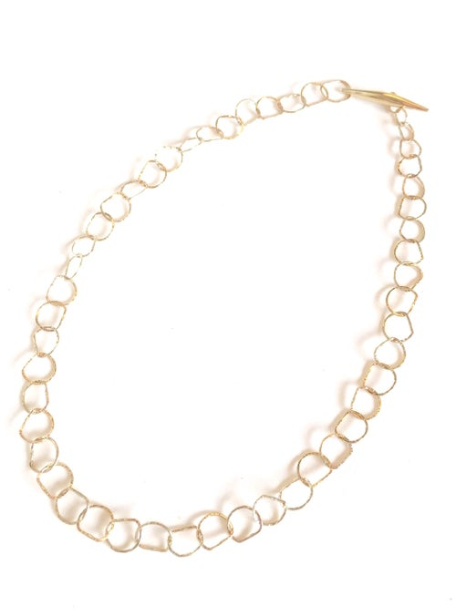 Image of Afiok necklace single length 9ct yellow gold