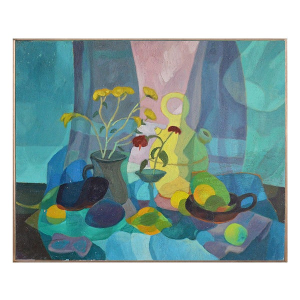 Image of Painting, 'Five Lemons,' Horas Kennedy (1917-1997)