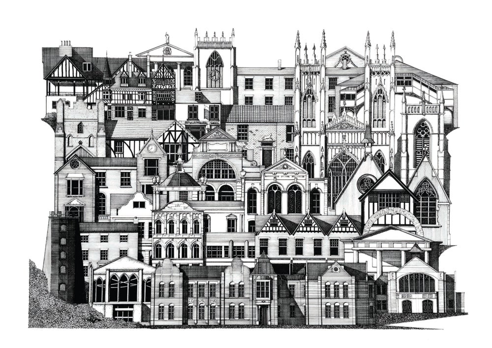 Image of Beverley Architectural Map print