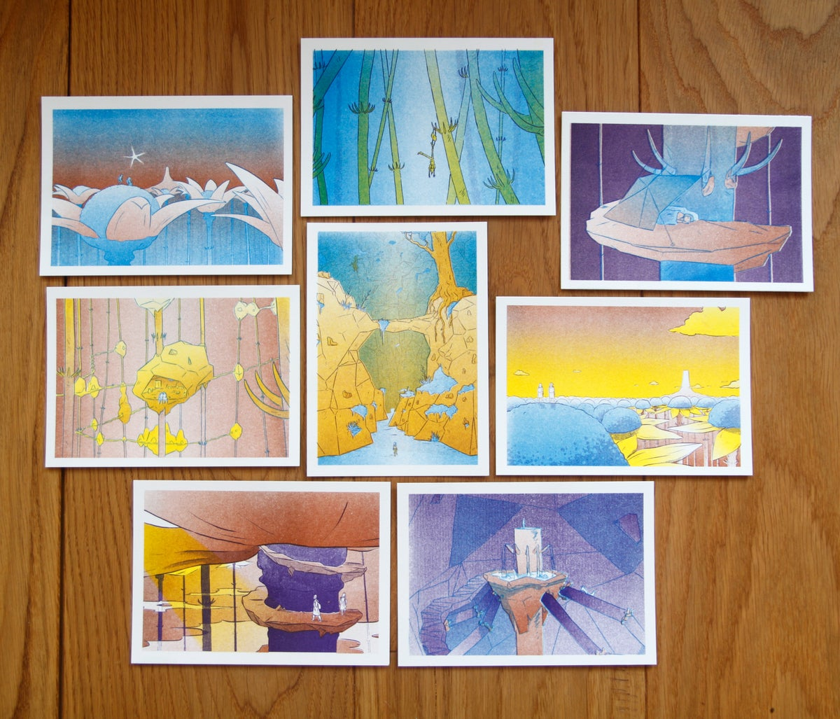 Image of A6 Postcards - Riso prints