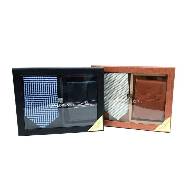 Image of Poly Woven Tie & Wallet Sets