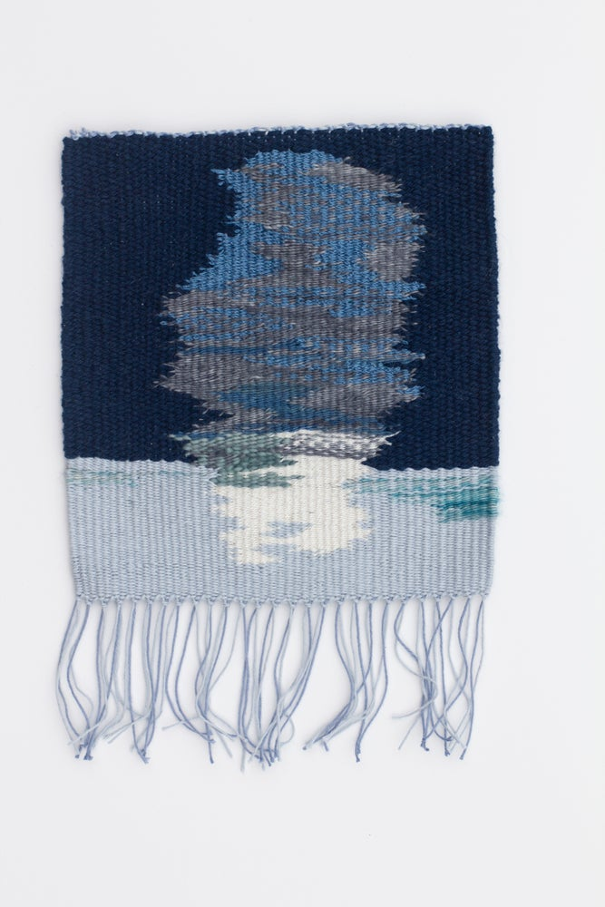 Image of Meet me on the ice wall tapestry weaving
